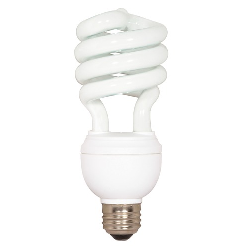 Satco Lighting Compact Fluorescent Three-way Light Bulb Medium Base 4100K 120V by Satco Lighting S7342