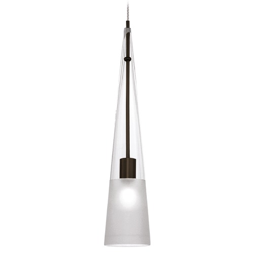 WAC Lighting Wac Lighting European Collection Dark Bronze Mini-Pendant with Conical Shade MP-913-CF/DB