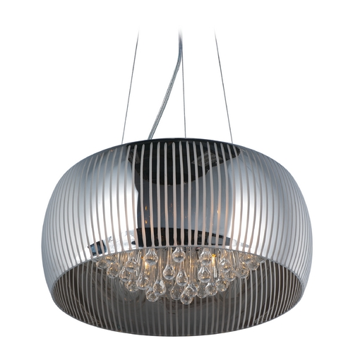 ET2 Lighting Sense Ii Polished Chrome Pendant Light with Drum Shade E21406-81PC