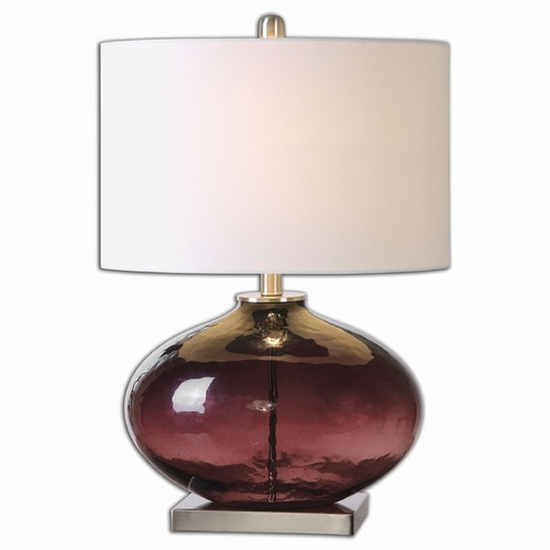 Uttermost Lighting Uttermost Tyrian Purple Glass Table Lamp 26190-1