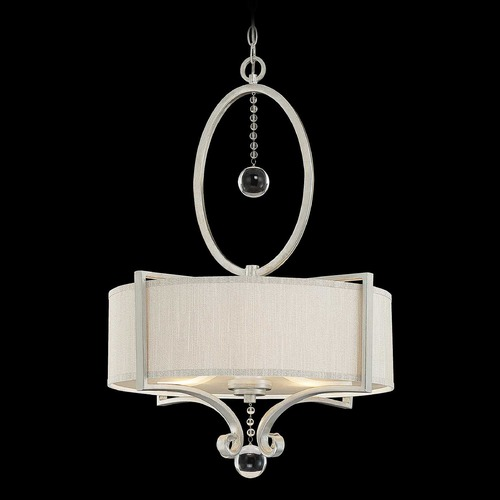 Savoy House Savoy House Silver Sparkle Pendant Light with Drum Shade 7-253-3-307