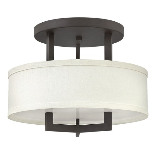 Hinkley Lighting Hinkley Lighting Hampton Buckeye Bronze LED Semi-Flushmount Light 3200KZ-LED