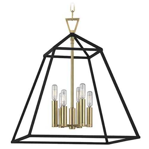 Hudson Valley Lighting Webster 6 Light Pendant Light - Aged Brass 4919-AGB