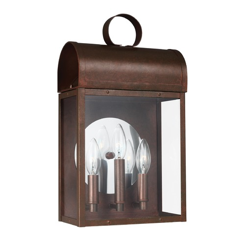 Sea Gull Lighting Sea Gull Conroe Weathered Copper Outdoor Wall Light 8714803-44