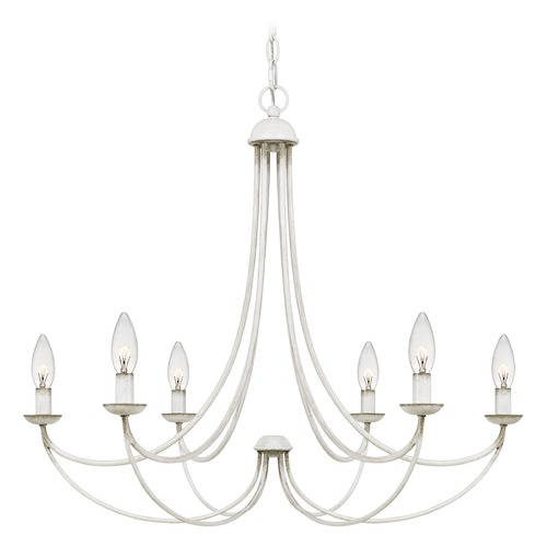 Quoizel Lighting Quoizel Lighting Mirren 6-Light Antique White Chandelier MRN5006AWH