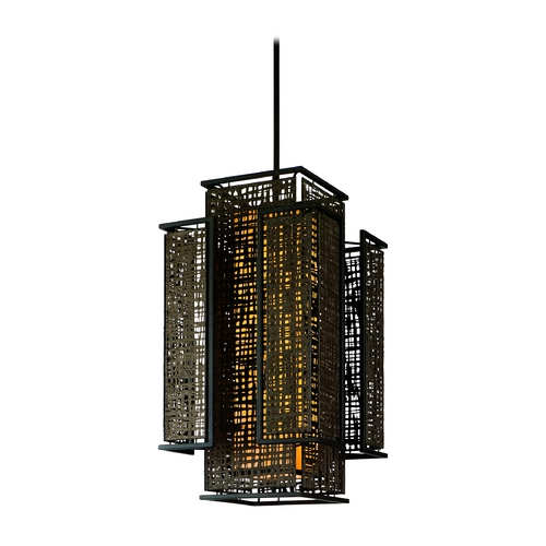 Corbett Lighting Corbett Lighting Shoji Bonsai Bronze Island Light with Rectangle Shade 105-75