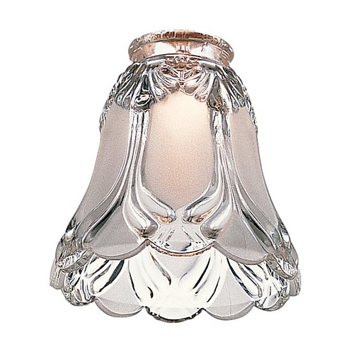 Monte Carlo Fans Clear Bell Glass Shade - 2-1/4-Inch Fitter Opening G833