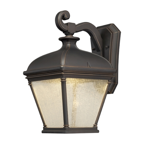 Minka Lavery LED Outdoor Wall Light with Clear Glass in Oil Rubbed Bronze W/gold Highlights Finish 72393-143C