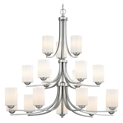 Design Classics Lighting Design Classics Dalton Fuse Satin Nickel Chandelier 5863-09 GL1020C