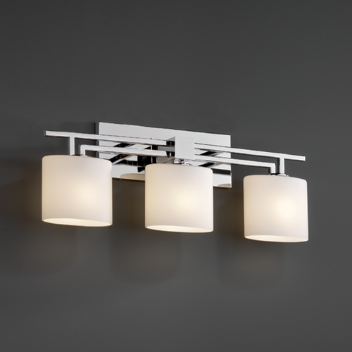 Justice Design Group Justice Design Group Fusion Collection Bathroom Light FSN-8703-30-OPAL-CROM