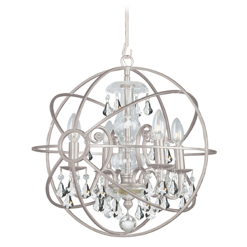 Crystorama Lighting Pendant Light in Olde Silver Finish 9025-OS-CL-MWP