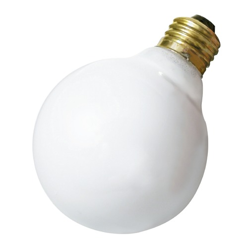 Satco Lighting Incandescent G30 Light Bulb Medium Base 120V by Satco S3653