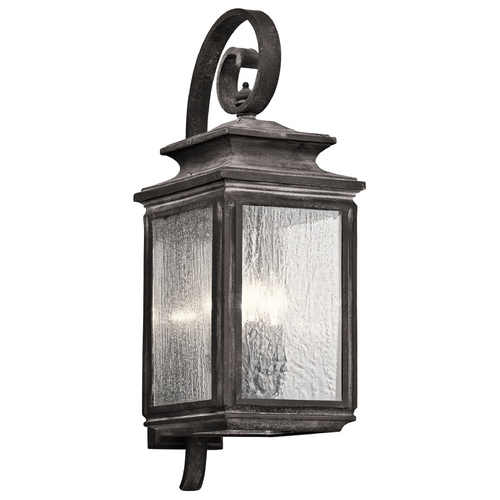 Kichler Lighting Kichler Lighting Wiscombe Park Weathered Zinc Outdoor Wall Light 49503WZC