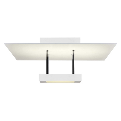 Sonneman Lighting Sonneman Lighting Chromaglo Satin White LED Semi-Flushmount Light 2408.03