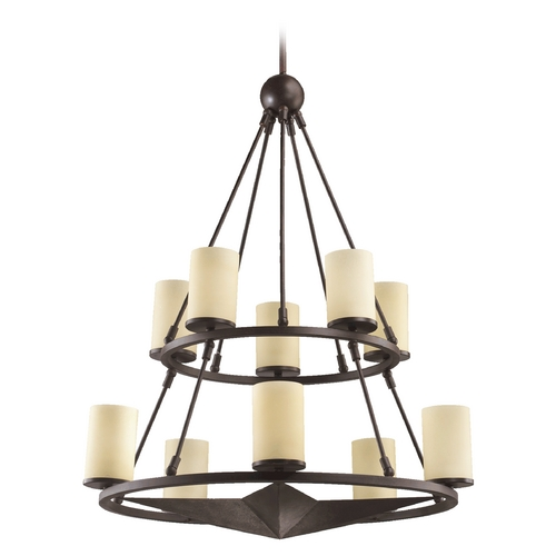 Quorum Lighting Quorum Lighting Lone Star Toasted Sienna Chandelier 6228-10-44