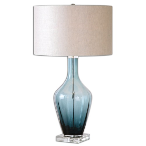 Uttermost Lighting Uttermost Hagano Blue Glass Table Lamp 26191-1