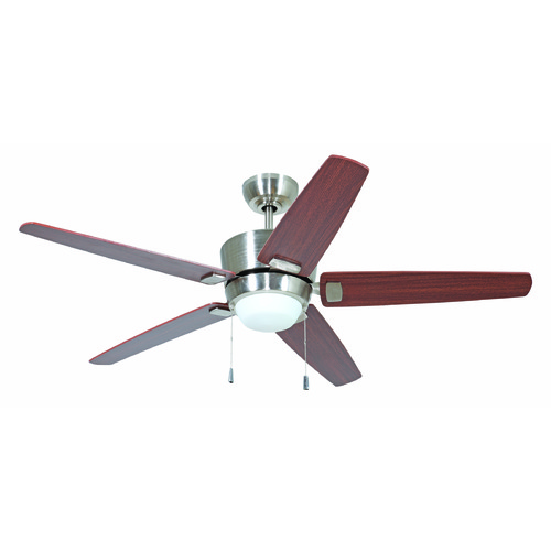 Craftmade Lighting Craftmade Lighting Atara Brushed Polished Nickel Ceiling Fan with Light ATA52BNK5