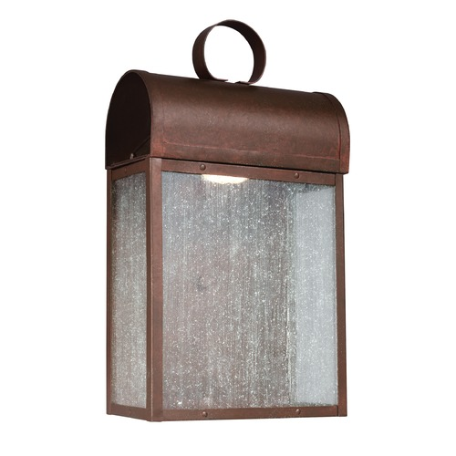 Sea Gull Lighting Seeded Glass LED Outdoor Wall Light Copper Sea Gull Lighting 8714891S-44
