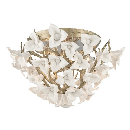 Corbett Lighting Corbett Lighting Lily Enchanted Silver Leaf Flushmount Light 211-34