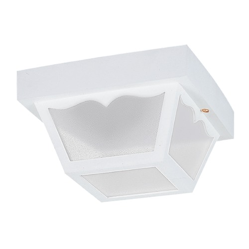 Sea Gull Lighting Sea Gull Lighting Outdoor Ceiling White LED Close To Ceiling Light 7567EN3-15