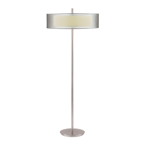 Sonneman Lighting Modern Floor Lamp with Silver Shades in Satin Nickel Finish 6016.13