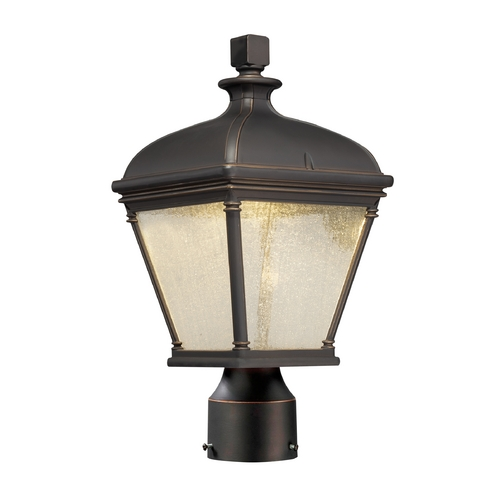 Minka Lavery Outdoor Post Lantern in Oil Rubbed Bronze Finish 72396-143C