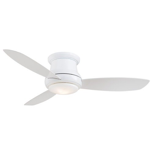 Minka Aire 52-Inch Minka Lavery White LED Ceiling Fan with Light F519L-WH