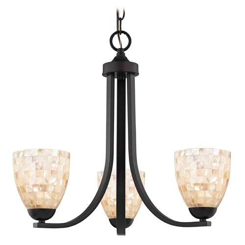 Design Classics Lighting Design Classics Dalton Fuse Neuvelle Bronze Mini-Chandelier 5843-220 GL1026MB
