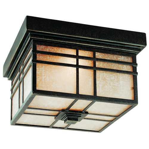 Imperial Bronze Flushmount Outdoor Ceiling Light Fixture Hc1612Ib