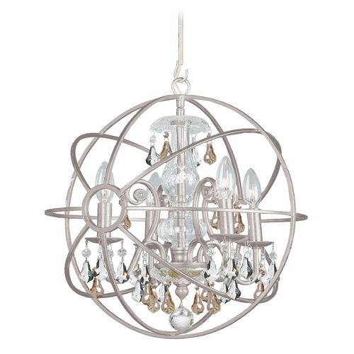 Crystorama Lighting Pendant Light in Olde Silver Finish 9025-OS-GS-MWP
