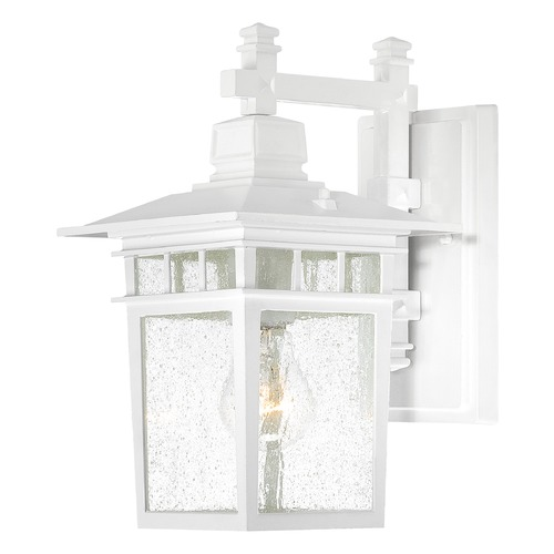 Nuvo Lighting Seeded Glass Outdoor Wall Light White Nuvo Lighting 60/4951