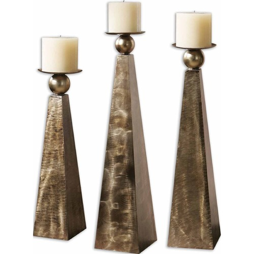 Uttermost Lighting Uttermost Cesano Bronze Candleholders, Set/3 19652