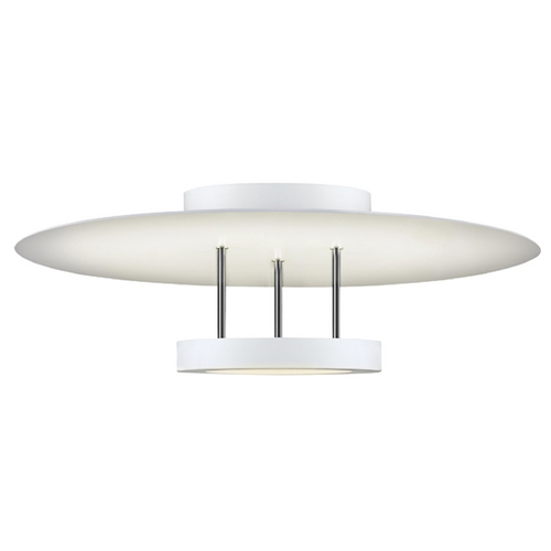 Sonneman Lighting Sonneman Lighting Chromaglo Satin White LED Semi-Flushmount Light 2409.03