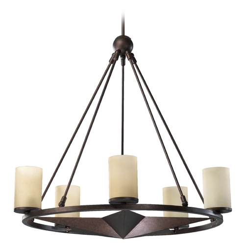 Quorum Lighting Quorum Lighting Lone Star Toasted Sienna Chandelier 6228-5-44