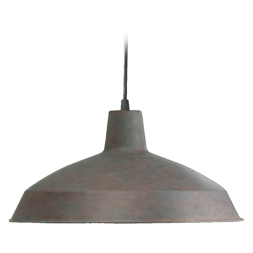 Quorum Lighting Quorum Lighting Cobblestone Pendant Light with Bowl / Dome Shade 6822-33