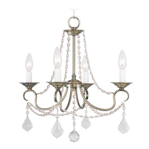 Livex Lighting Livex Lighting Pennington Antique Brass Crystal Chandelier 6514-01