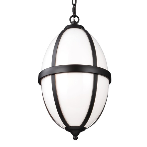 Feiss Lighting Feiss Lighting Amato Oil Rubbed Bronze Pendant Light with Oval Shade F3056/2ORB