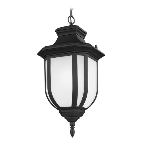 Sea Gull Lighting Sea Gull Childress Black Outdoor Hanging Light 6236301-12