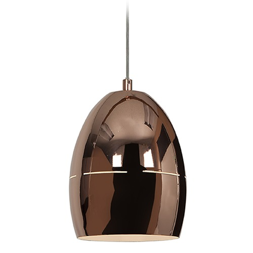 Access Lighting Access Lighting Essence Rose Gold Mini-Pendant Light with Bowl / Dome Shade 28094-RGLD