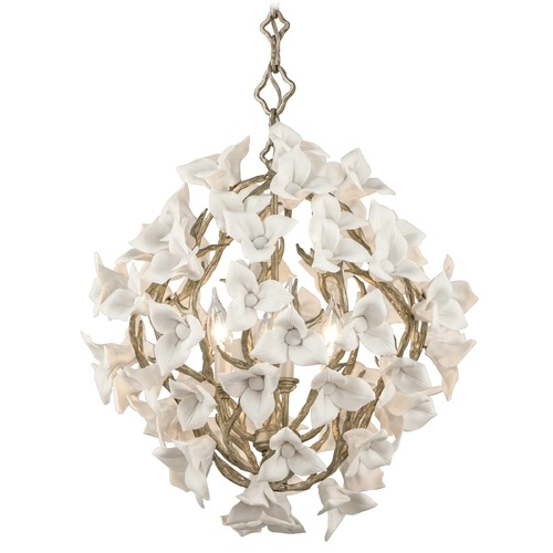 Corbett Lighting Corbett Lighting Lily Enchanted Silver Leaf Pendant Light 211-44