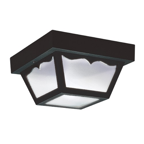 Sea Gull Lighting Sea Gull Lighting Outdoor Ceiling Black LED Close To Ceiling Light 7567EN3-32