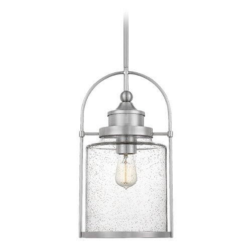 Quoizel Lighting Quoizel Lighting Payson Brushed Nickel Mini-Pendant Light with Clear Glass QPP2782BN
