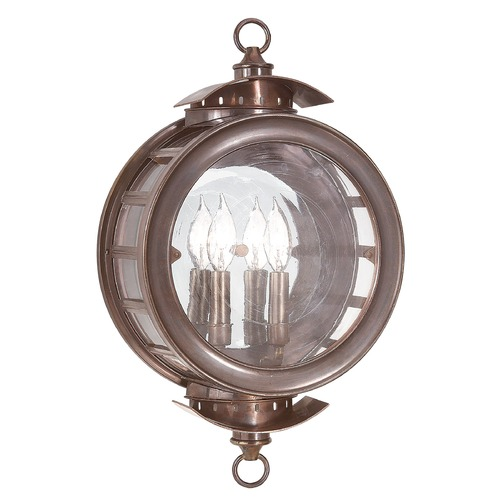 Troy Lighting Outdoor Wall Light with Clear Glass in Heritage Bronze Finish B9502HB