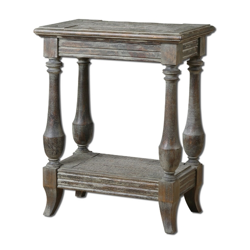 Uttermost Lighting Accent Table in Waxed Limestone Finish 24295
