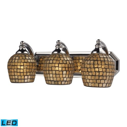 Elk Lighting Elk Lighting Bath and Spa Polished Chrome LED Bathroom Light 570-3C-GLD-LED