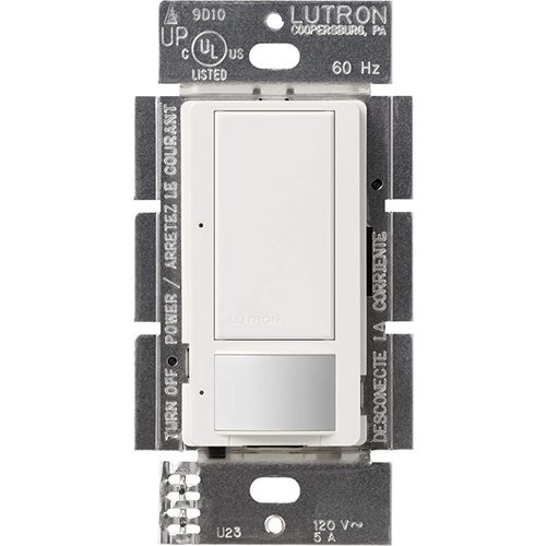 Lutron Dimmer Controls 600-Watt Switch with Occupancy/Vacancy Sensor MS-OPS5AM-H-WH