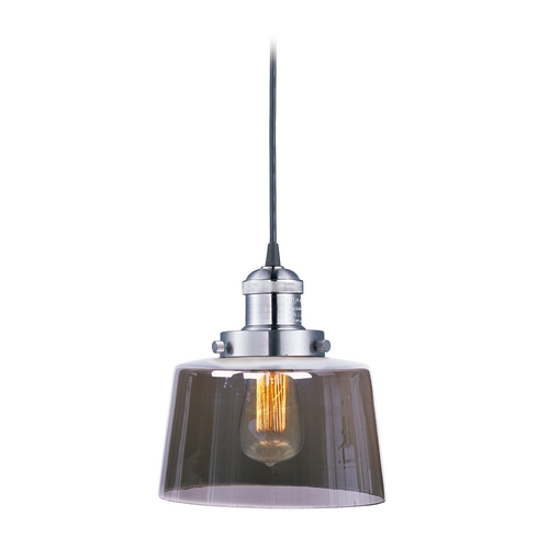 Maxim Lighting Mini-Pendant Light with Smoked Glass 25029MSKSN/BUI