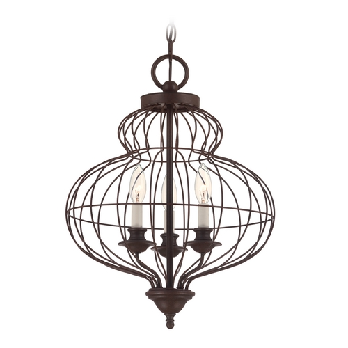 Quoizel Lighting Pendant Light in Rustic Antique Bronze Finish LLA5203RA