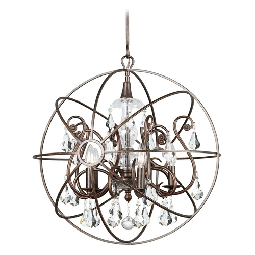 Crystorama Lighting Pendant Light in English Bronze Finish 9026-EB-CL-MWP