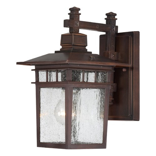 Nuvo Lighting Seeded Glass Outdoor Wall Light Bronze Nuvo Lighting 60/4952